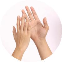 殺菌エアータオルNewスーパーMで、手指もすべすべ